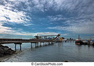 terminal, nord, vancouver, port, cargaison
