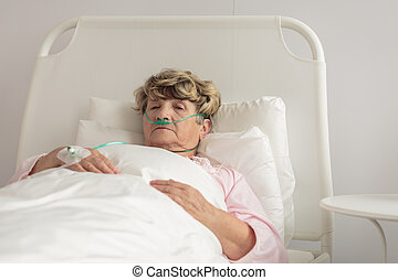 Terminally ill woman