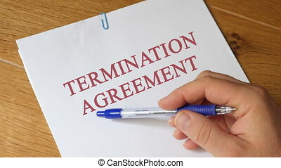 Termination agreement Agreement Concept - termination...