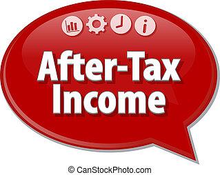 termine, affari, after-tax, illustrazione, discorso, reddito...
