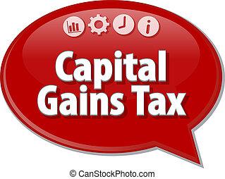 termine, guadagni, affari, tassa, illustrazione, discorso, ...
