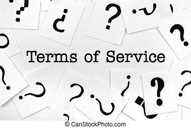 terminy, służba