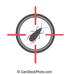 Termite on Target Vector Illustration