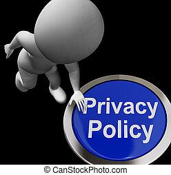 termos, privacidade, botão, proteção, política, dados, ...