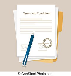 terms and condition document paper legal aggreement signed stamp