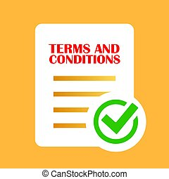 Terms and conditions agreement vector icon