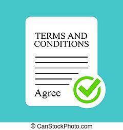 Terms and conditions contract icon