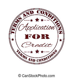 terms and conditions for credit stamp