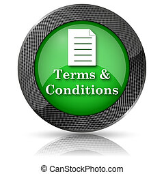 Terms and conditions icon - Shiny glossy icon with white ...
