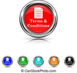 Terms and conditions icon - six colours set