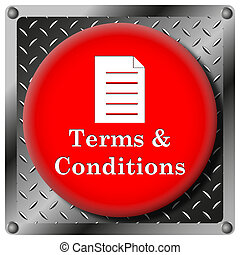 Terms and conditions metallic icon