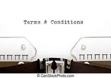 Terms And Conditions On Typewriter