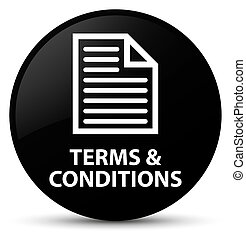 Terms and conditions (page icon) black round button