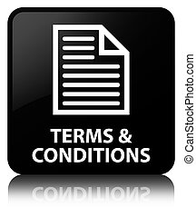 Terms and conditions (page icon) black square button