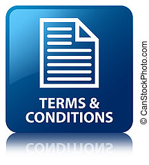 Terms and conditions (page icon) blue square button