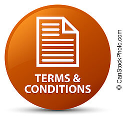 Terms and conditions (page icon) brown round button