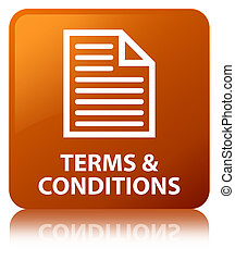 Terms and conditions (page icon) brown square button