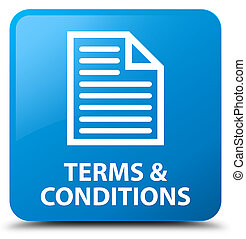 Terms and conditions (page icon) cyan blue square button