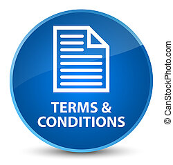 Terms and conditions (page icon) elegant blue round button