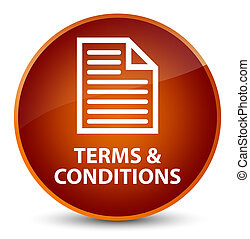 Terms and conditions (page icon) elegant brown round button