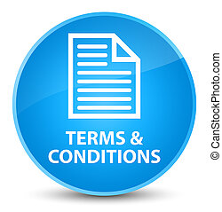 Terms and conditions (page icon) elegant cyan blue round button