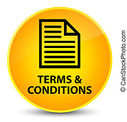Terms and conditions (page icon) elegant yellow round button