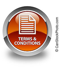 Terms and conditions (page icon) glossy brown round button