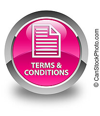 Terms and conditions (page icon) glossy pink round button