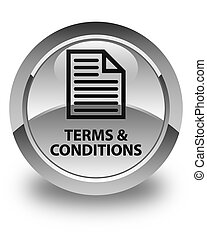 Terms and conditions (page icon) glossy white round button