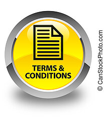 Terms and conditions (page icon) glossy yellow round button