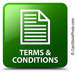 Terms and conditions (page icon) green square button
