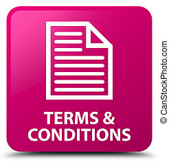 Terms and conditions (page icon) pink square button