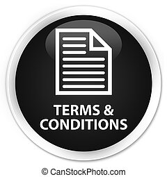 Terms and conditions (page icon) premium black round button