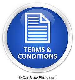 Terms and conditions (page icon) premium blue round button