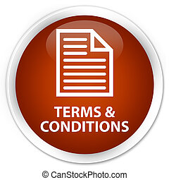 Terms and conditions (page icon) premium brown round button