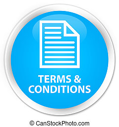Terms and conditions (page icon) premium cyan blue round button