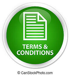 Terms and conditions (page icon) premium green round button