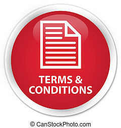Terms and conditions (page icon) premium red round button