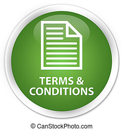 Terms and conditions (page icon) premium soft green round button