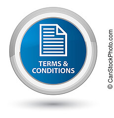 Terms and conditions (page icon) prime blue round button