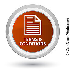 Terms and conditions (page icon) prime brown round button