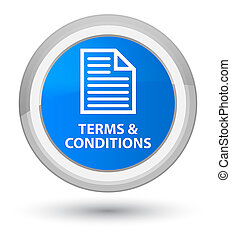 Terms and conditions (page icon) prime cyan blue round button