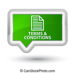 Terms and conditions (page icon) prime green banner button