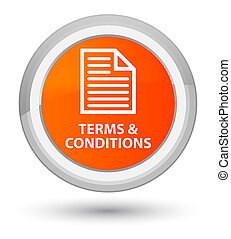 Terms and conditions (page icon) prime orange round button