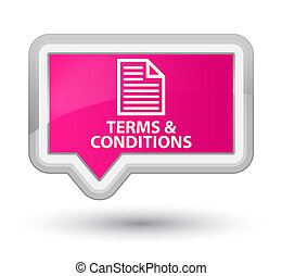 Terms and conditions (page icon) prime pink banner button
