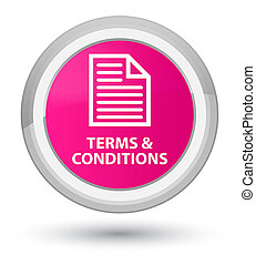 Terms and conditions (page icon) prime pink round button