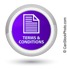 Terms and conditions (page icon) prime purple round button
