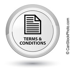 Terms and conditions (page icon) prime white round button