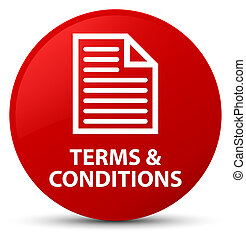 Terms and conditions (page icon) red round button