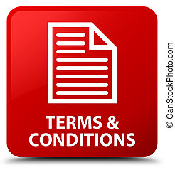 Terms and conditions (page icon) red square button